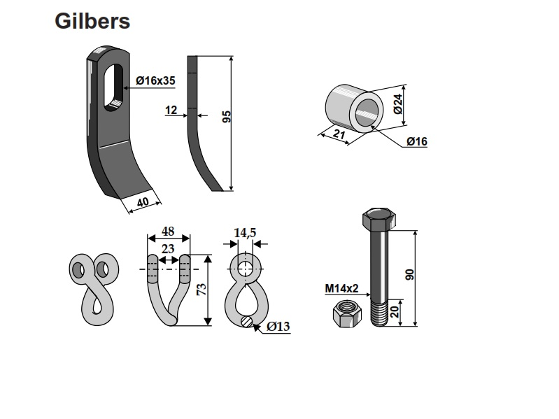Set cutite Gilbers 95-40