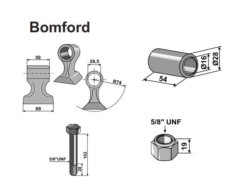 Set ciocane Bomford
